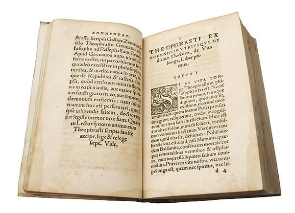 Les cinq traités, de Théophraste Paracelse, intérieur